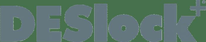 Grey DESlock logo.